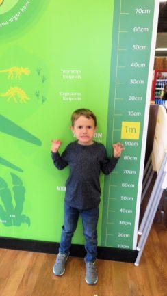 Jake measuring himself