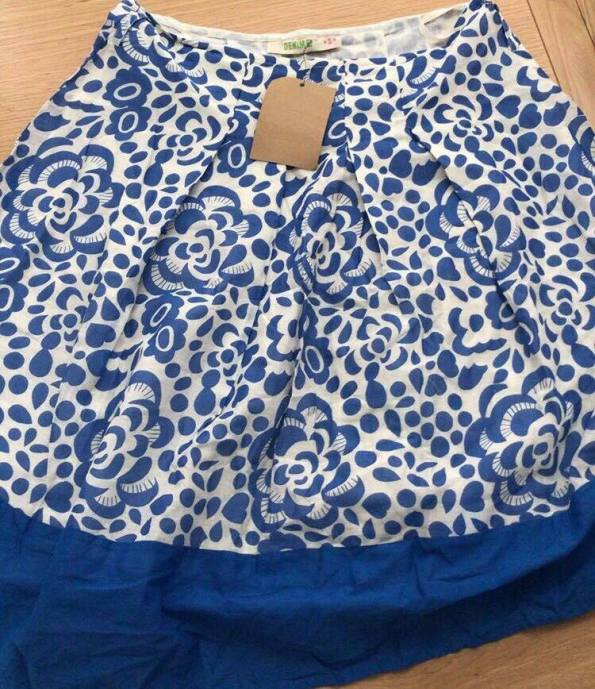 blue and white pretty skirt
