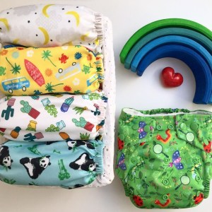 cloth nappies and a Grimms rainbow