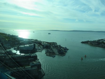 view from the Spinnaker tower