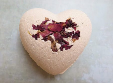 heart shaped bath bomb