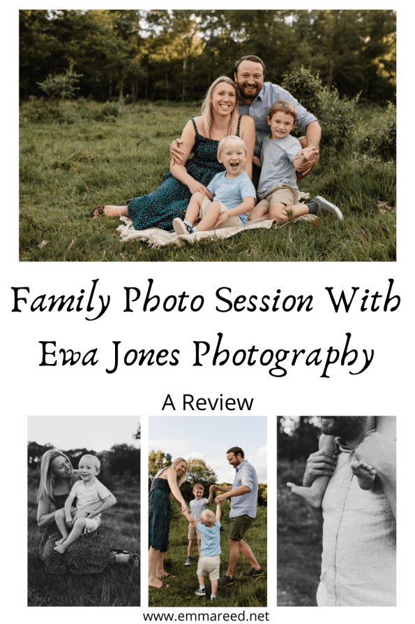 family photo session with Ewa Jones Photography pin