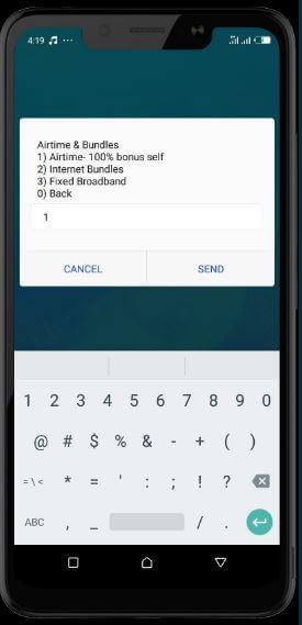 mtn mobile money step three