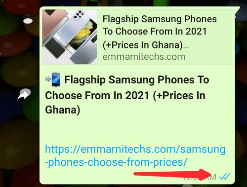 whatsapp checkmarks or blue ticks