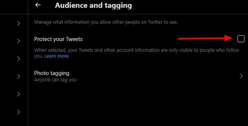 activate protect your tweets
