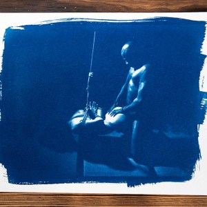 cyanotype Shibari Bound Pleasure