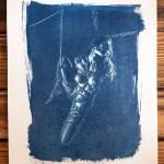 """Shibari : Cyanotype – Enchainée"" 24×32"