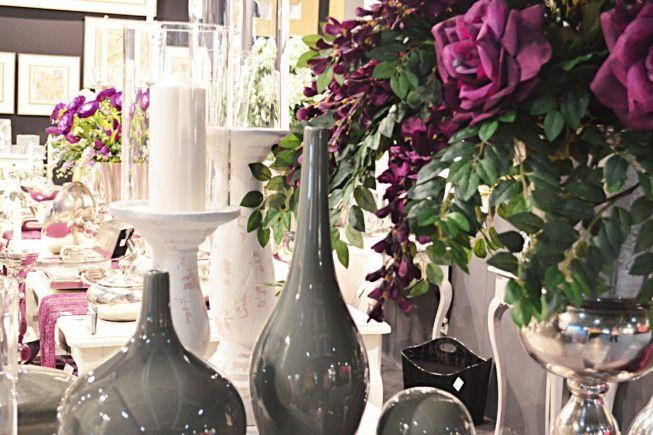 decoracion con jarrones y velas