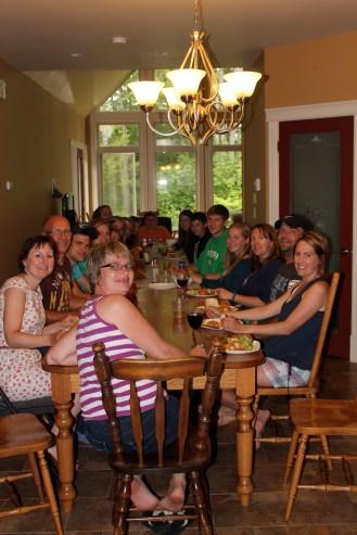 Dinner at the Dreise's