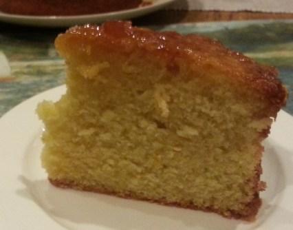 Orange Polenta Cake with orange syrup.