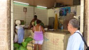 Many food shops still operate under rationing... and the gaze of Cuba's leaders; from boldly displayed posters .