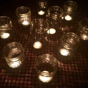those jelly jar tea lights
