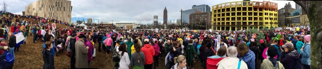 just part of the 60,000+ crowd that marched that day
