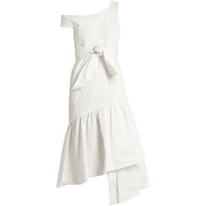 http://www.matchesfashion.com/products/Isa-Arfen-Asymmetric-ruffled-panel-cotton-blend-dress-1095242