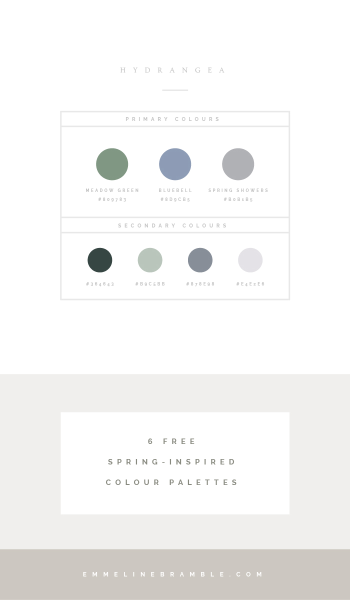 how to create an enchanting seasonal colour palette