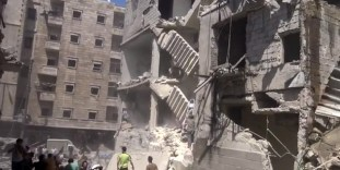 Alep-Bostan-Al-Qasr-28-av-2016--Attaque-de-l'aviation-du-régime-12