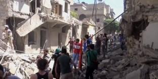 Alep-Bostan-Al-Qasr-28-av-2016--Attaque-de-l'aviation-du-régime-5