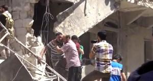 Alep-Bostan-Al-Qasr-28-av-2016--Attaque-de-l'aviation-du-régime-8