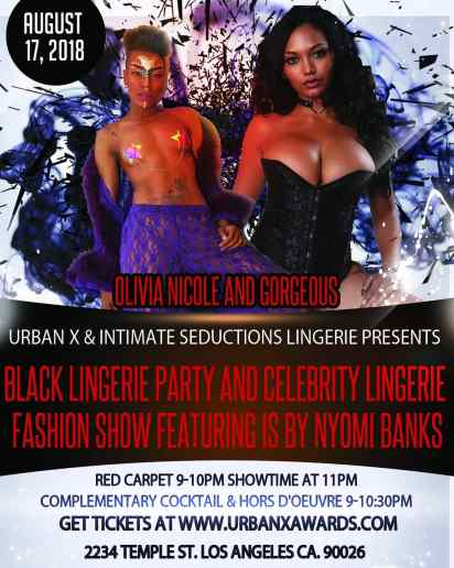 Nyomi Banks Urban X Black Lingerie Fashion Show