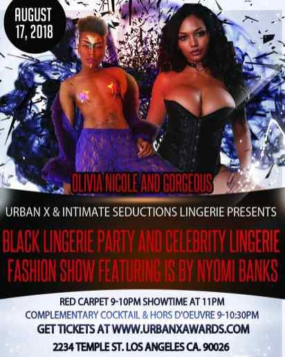 Nyomi Banks Urban X Black Lingerie Fashion Show