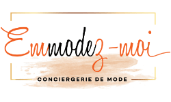 Logo Emmodez-moi, conciergerie de mode à Lyon, Stylisme, Personal Shopping, Conseil en Image, Circuit mode Lyon