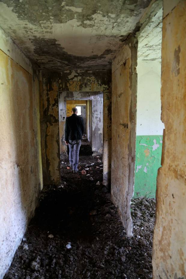 corroded hall