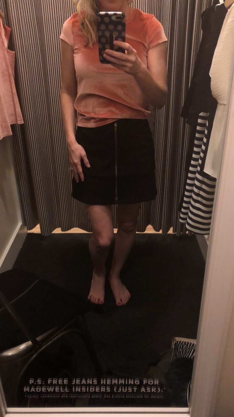 Madewell Denim utility zip front skirt