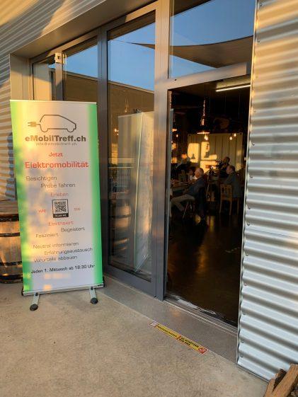 Eingang Treffpunkt eMobiltreff.ch