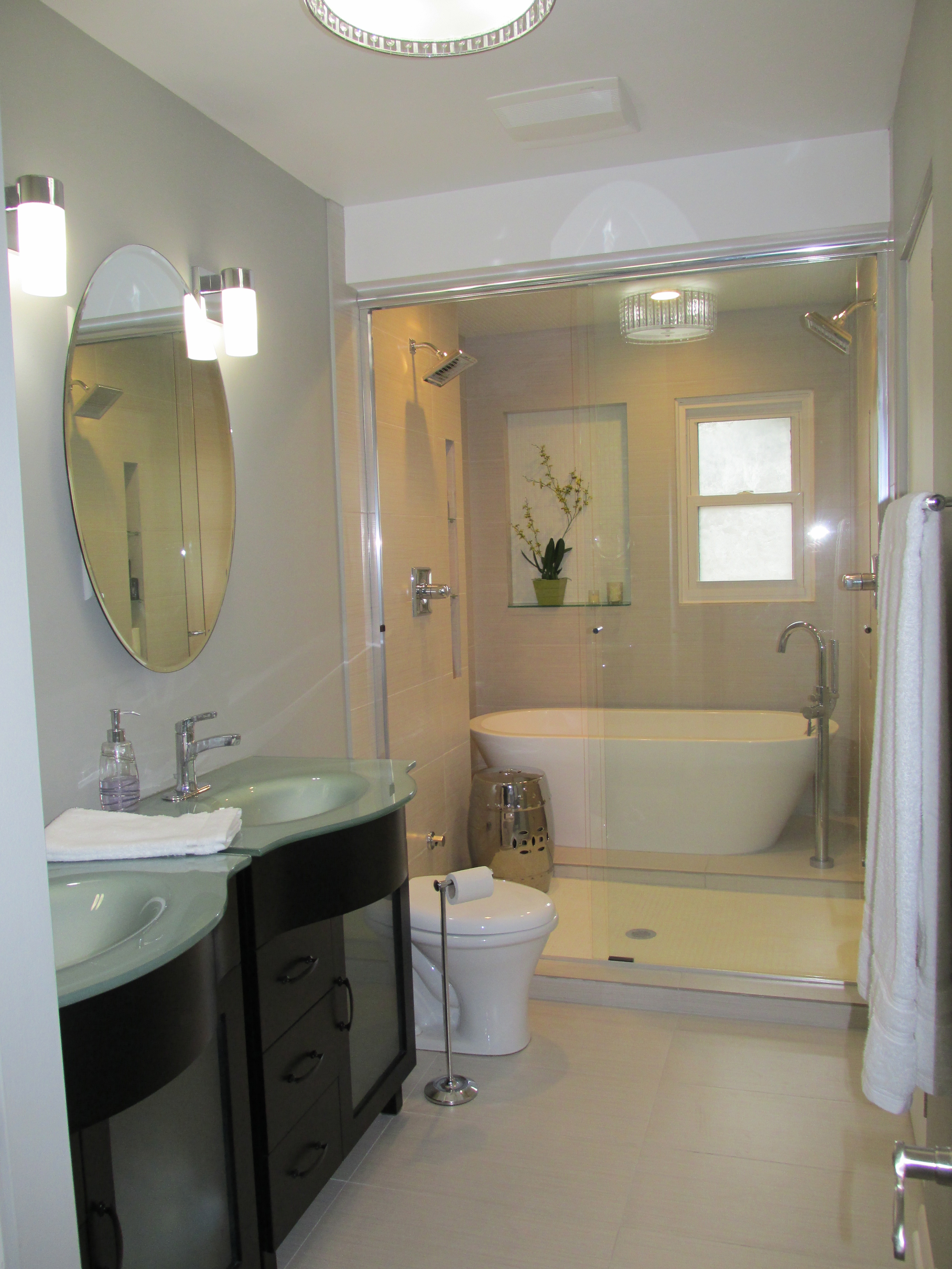 Master Bathroom: January 2013 - Emodel your home on Wet Room With Freestanding Tub  id=90453