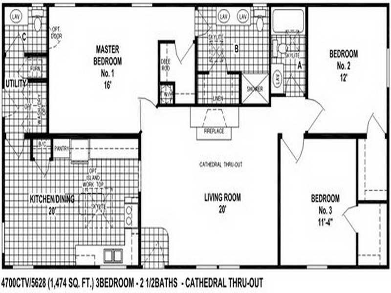 Small Double Wide Mobile Home Floor Plans Home Design Ideas