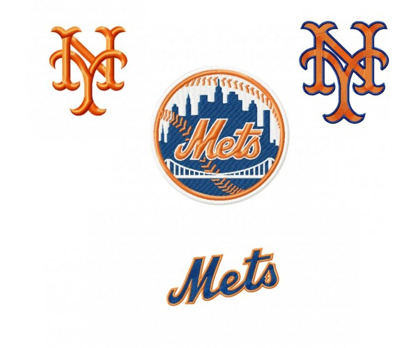 New York Mets Logos Machine Embroidery Designs For Instant Download