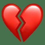 Смайликэмоджи Разбитое сердце ВК ВКонтакте Инстаграм