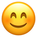 Smiling Face With Smiling Eyes on Apple iOS 11.2 Coussin emoji, signification smiley, signification emoji