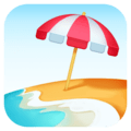 Beach with Umbrella on Facebook 4.0