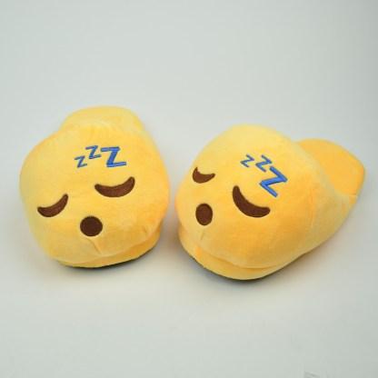 Emojitofflor som sover och snarkar