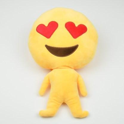 Emojifigur med hjärtformade ögon