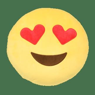 Emojikudde med hjärtformade ögon