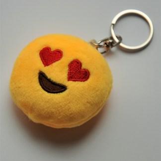 Emojinyckelring - Hjärtögon