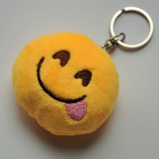 Emojinyckelring - Leende med tungan ute