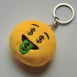 Emojinyckelring som har cash