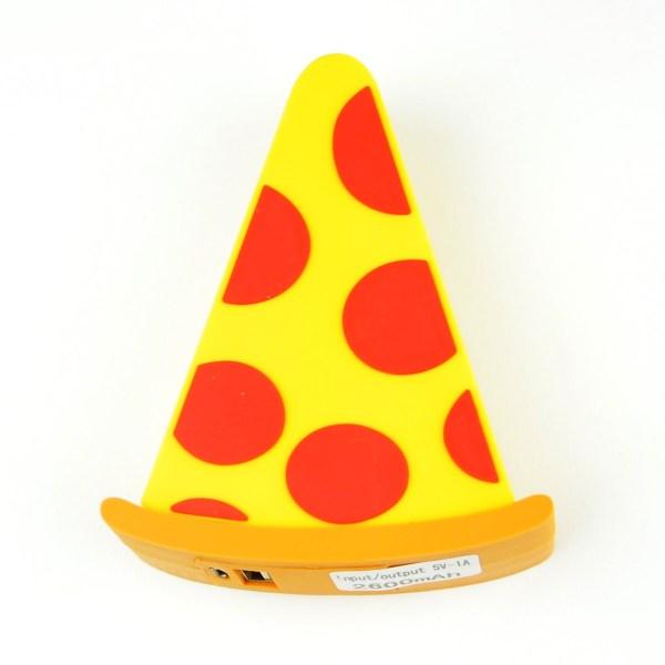 Powerbank som är en pizzaslice