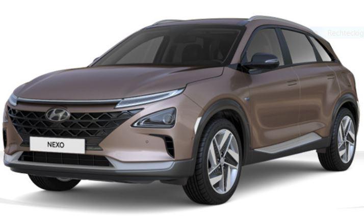 Hyundai - Nexo - Brennstoffzellen Auto, Wasserstoff, H2, Elektroauto, schräg vorn vorne links, copper metallic - Foto Hyundai