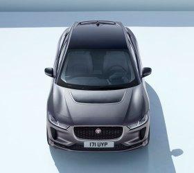 Jaguar I-Pace - gerade von vorne - von oben - corris grey