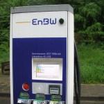 Ladestation von EnBW mit Display, Menüführung an einer E-Auto-Ladestation an der A 3 -_-Alle-Fotos-emoove-net-