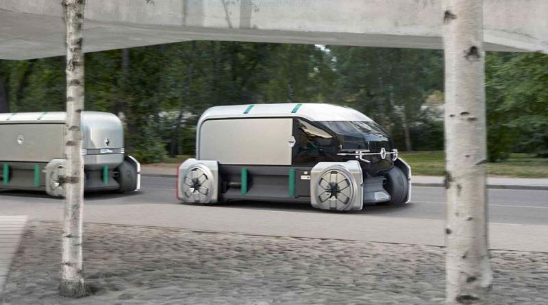 Renault-concept-car-EZ-Pro-autonomes-Auto-selbstfahrender-Minibus-2-autonome-Transporter-hintereinander-Grafik-Foto-Renault.