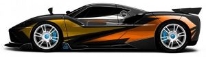 Arash AF10-Hyybrid - Elektroauto - Seite - changierende Farben - langes Bild, Arash AF10 - englischer Power Hybrid