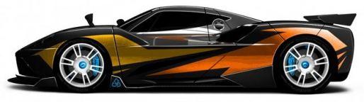 Arash AF10-Hyybrid - Elektroauto - Seite - changierende Farben - langes Bild