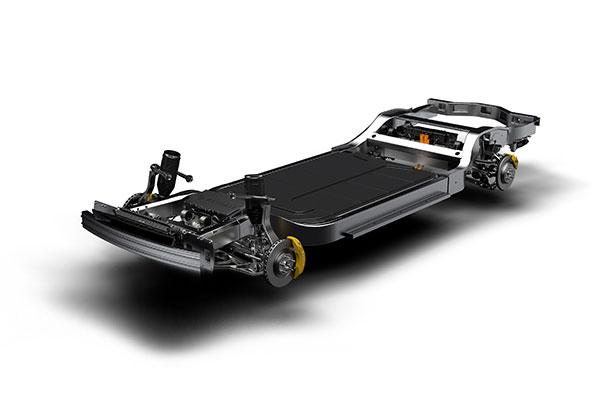 Rivian baut für Ford den ersten Elektro SUV, Rivian - Skateboard Chassis, Foto Rivian