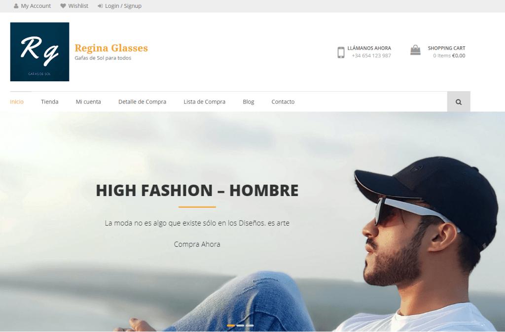 Regina Glasses - Ecommerce de Gafas de Sol