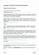 ESB Company Report - Sample of a Summary and Conclusions Page